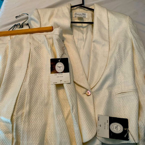 Christian Dior Vintage Skirt Suit with Tags!